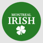 Camiseta irlandesa de encargo orgullosa de la pegatina redonda