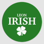 Camiseta irlandesa de encargo orgullosa de la pegatinas redondas