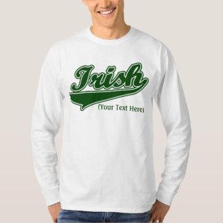 Camiseta irlandesa de encargo personalizada poleras