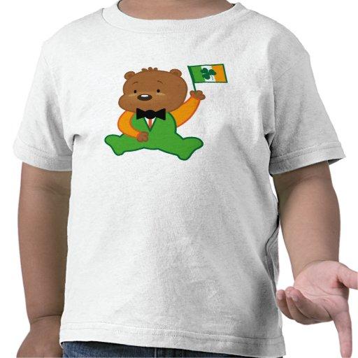 Camiseta irlandesa de los niños del oso de peluche