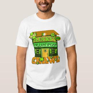 Camiseta irlandesa del arrastre de Pub del día de Poleras
