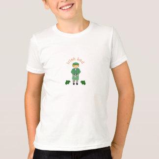 Camiseta irlandesa del muchacho del chaval poleras
