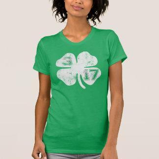 Camiseta irlandesa del trébol 3/17 playeras