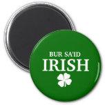 Camiseta irlandesa orgullosa de la ciudad de la of iman de frigorífico
