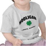 Camiseta irlandesa personalizada bebé del gamberro