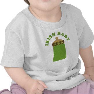 Camiseta irlandesa verde linda del niño del bebé