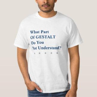 Camiseta irónica de la gestalt playeras
