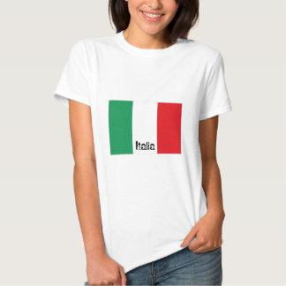 Camiseta italiana de la bandera de Italia Remeras