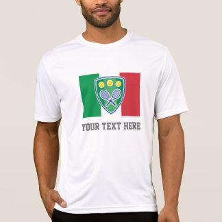 Camiseta italiana de la fan del equipo del tenis