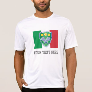 Camiseta italiana de la fan del equipo del tenis polera
