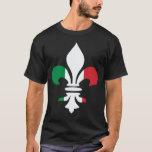 Camiseta italiana de la flor de lis de la bandera