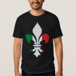 Camiseta italiana de la flor de lis de la bandera playeras