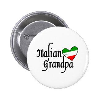 Camiseta italiana del abuelo pin redondo 5 cm