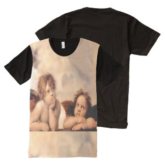 Camiseta italiana del arte de los ángeles de la