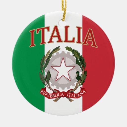 Camiseta italiana del escudo de armas de la bander adorno de reyes