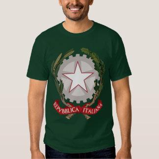 Camiseta italiana del escudo de armas playeras