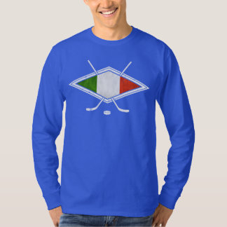 Camiseta italiana del hockey sobre hielo con camisas