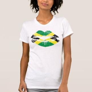 Camiseta jamaicana para las señoras. Manga corta d Poleras