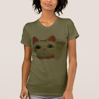 Camiseta japonesa afortunada del gato