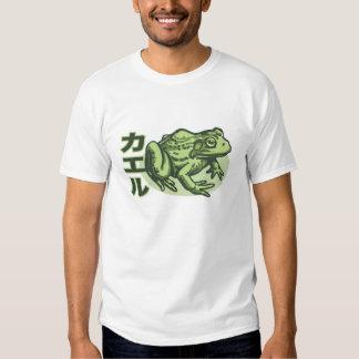Camiseta japonesa de la rana playeras