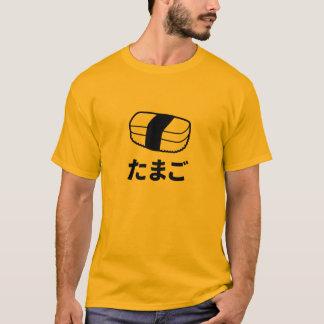 Camiseta japonesa de los caracteres del sushi de