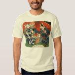Camiseta japonesa del arte del gato playera