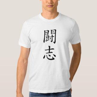 Camiseta japonesa del kanji del alcohol de lucha remera