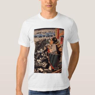 Camiseta japonesa del samurai de 100 generales playera