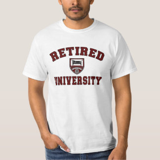 Camiseta jubilada de la universidad polera
