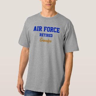 Camiseta jubilada fuerza aérea del abuelo playeras