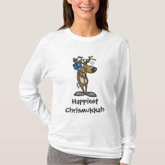 Camiseta judía de Chrismukkah del reno