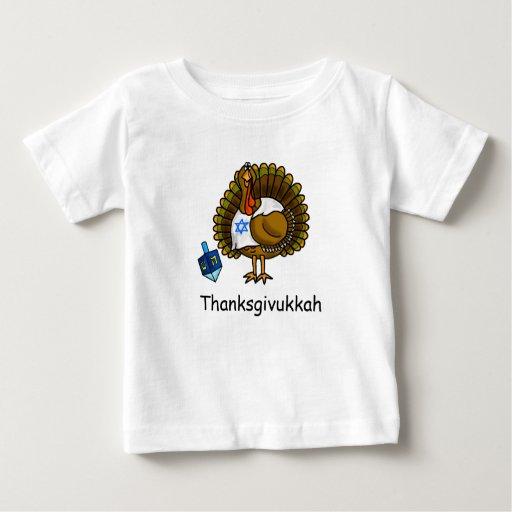 Camiseta judía del bebé de Thanksgivukkah Turquía
