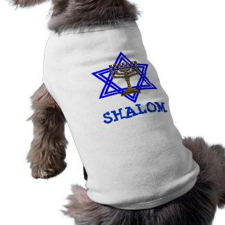 Camiseta judía del mascota del perro de SHALOM Playera Sin Mangas Para Perro