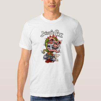 Camiseta jurásica del blanco del cerdo playera