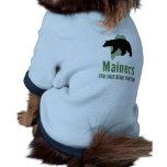 Camiseta justa del perrito de la caza del oso ropa perro