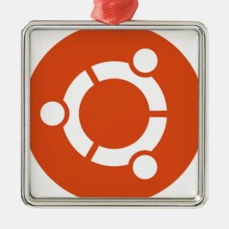 Camiseta Kode ub05 de Ubuntu Linux Adorno Navideño Cuadrado De Metal
