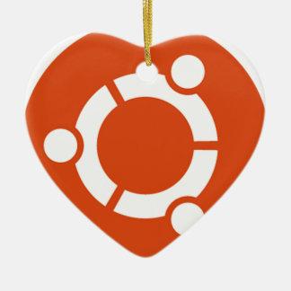 Camiseta Kode ub05 de Ubuntu Linux Adorno Navideño De Cerámica En Forma De Corazón