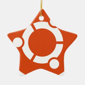 Camiseta Kode ub05 de Ubuntu Linux Adorno Navideño De Cerámica En Forma De Estrella