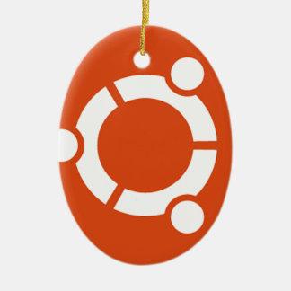 Camiseta Kode ub05 de Ubuntu Linux Adorno Navideño Ovalado De Cerámica