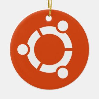 Camiseta Kode ub05 de Ubuntu Linux Adorno Navideño Redondo De Cerámica