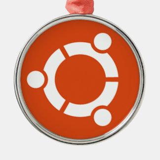 Camiseta Kode ub05 de Ubuntu Linux Adorno Navideño Redondo De Metal