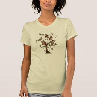 Camiseta lamentable del árbol del búho