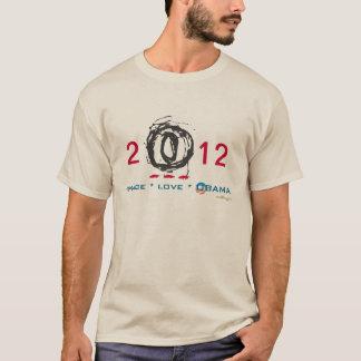Camiseta larga 2012 de la manga de la MOD de OBAMA