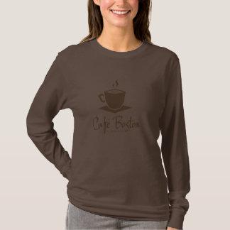 Camiseta larga básica de Café Boston de la manga Polera