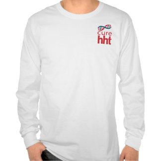 Camiseta larga básica de la manga de la curación