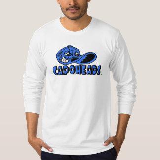 Camiseta larga blanca de CapoHeads de la manga de