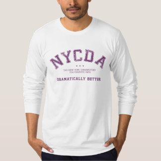 Camiseta larga blanca de la manga de NYCDA Playera