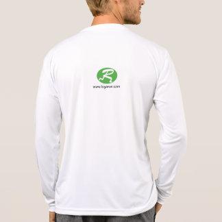 Camiseta larga blanca del funcionamiento de la