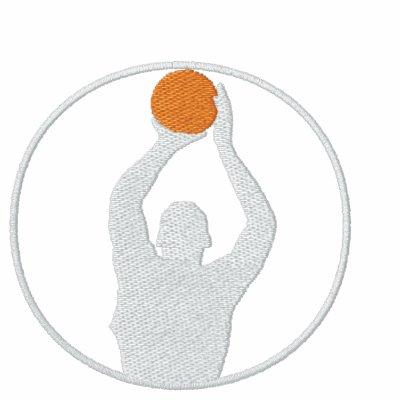 Camiseta larga bordada baloncesto de la manga