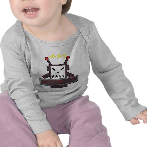 Camiseta larga de la manga de Geekoid de los bebés